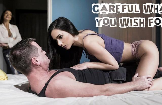 Мужик отказался трахать жену, зато с удовольствием чпокнул дочку